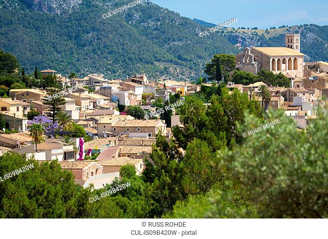 Elevated view of Selva, Majorca, Spain