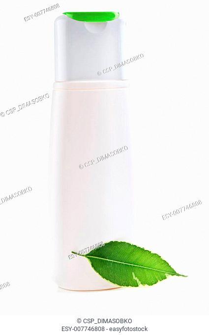 herbal shampoo bottle
