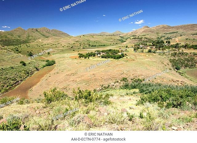 Scenery along the road to Semonkong in the mountain kingdom of Lesotho