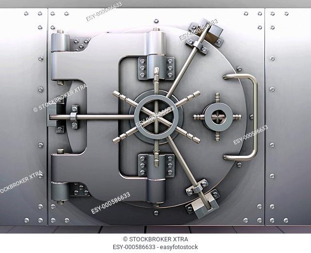 3D render of a bank vault