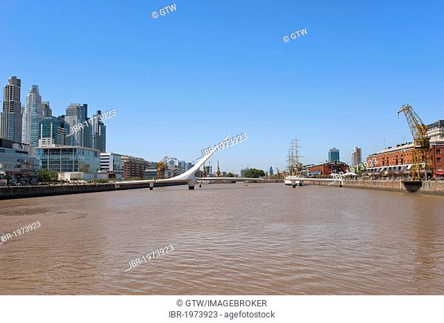 Puente de la Mujer, Women's Bridge, Puerto Madero, Buenos Aires, Argentina, South America