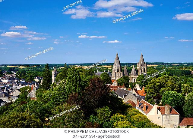France, Indre-et-Loire (37), Loches, Royal castle and dwelling, St-Ours church, old town