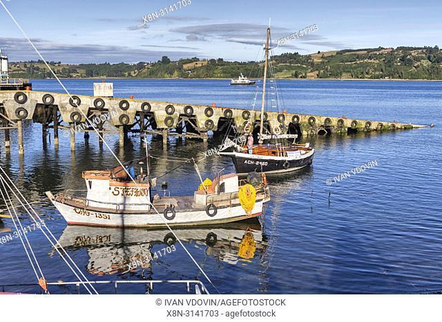 Sea of Chiloe coast, Castro, Chiloe island, Los Lagos region, Chile