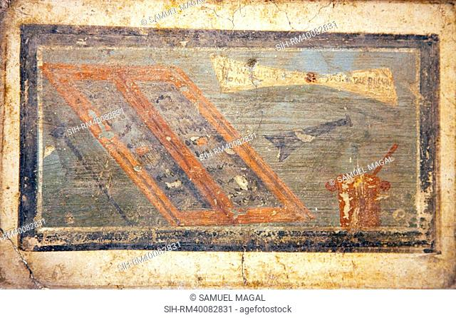 Italy, Naples, Naples Museum, from Pompeii, Marco Lucrezio Casa IX, 3,5, Instrumentum Scriptorium