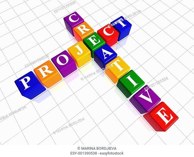 color creative project like crossword