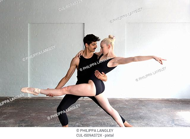 Dancers practising in studio