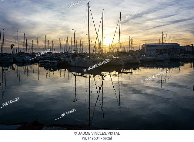 Port Balis, marina in the heart of the coast of Barcelona