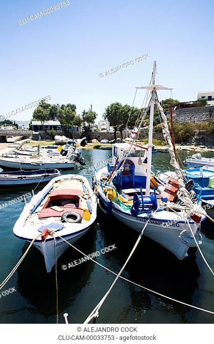 Boats in Parikia, Paros, Greece, Western Europe