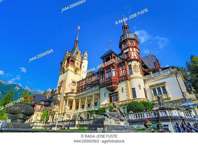 Romania, Prahova, Sinaia City, Peles Castle