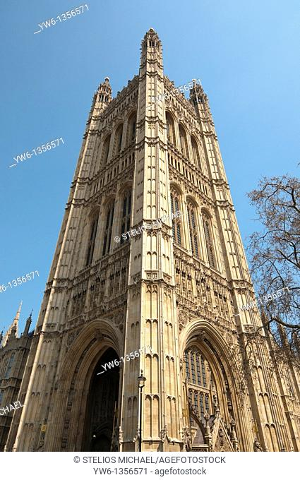 Victoria Tower at the Palace of Westminter in London