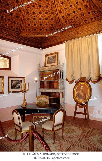 Interior detail of the Castle of Belmonte, Cuenca, Castilla La Mancha, Spain