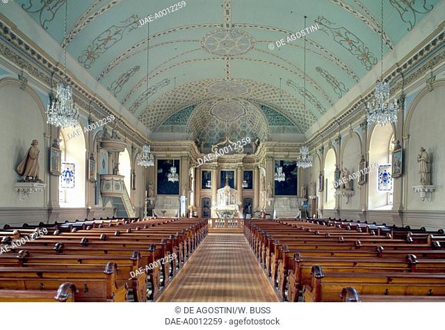Interior of the Church of the Visitation of the Blessed Virgin Mary, 1749-1752, Montreal, Quebec. Canada, 18th century