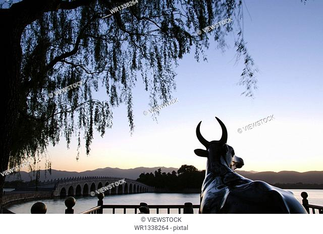 Summer Palace in Beijing Bronze Bull