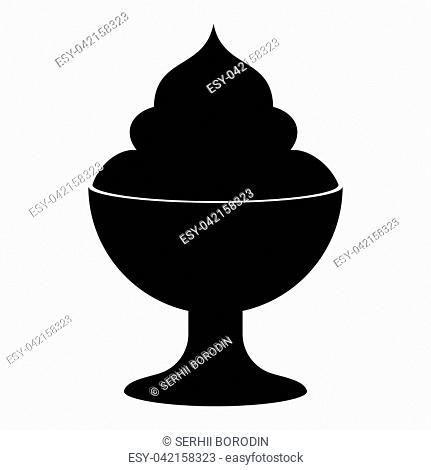 Ice cream it is the black color icon