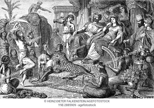 A royal court in the time after the death of Alexander the Great, Kingdom of Macedonia