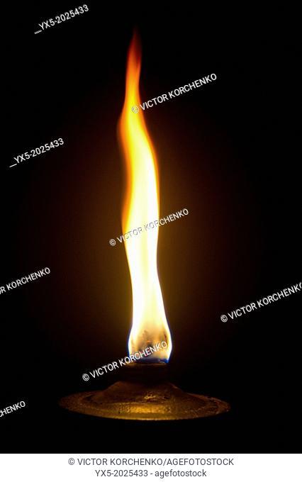 Garden torch burning