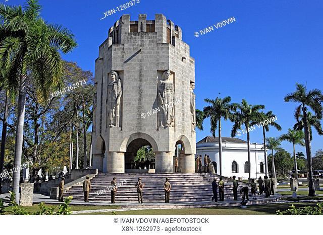 Mausoleum of Jose Marti 1951, Santa-Ifigenia cemetery, Santiago de Cuba, Cuba