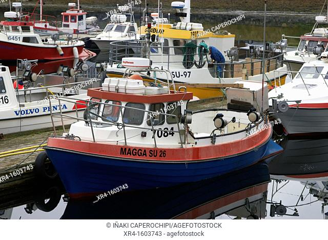 Fishing port of Djupvogur, Djupivogur, Iceland