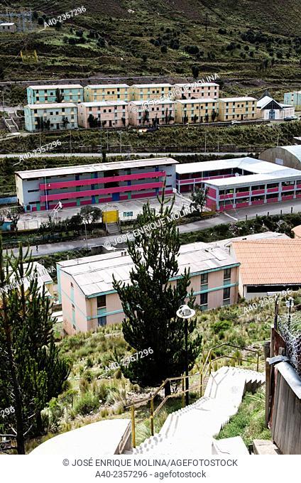 Silver mine Casapalca. Lima department. Andes mountains. Perú