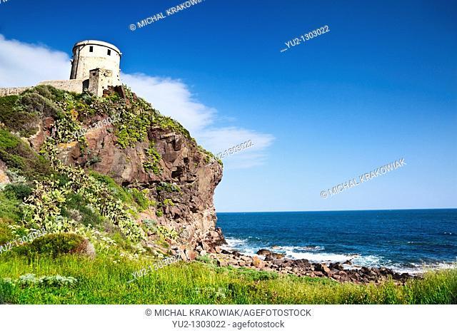 Coastal landscape of Sardinia  Photo taken near Pula