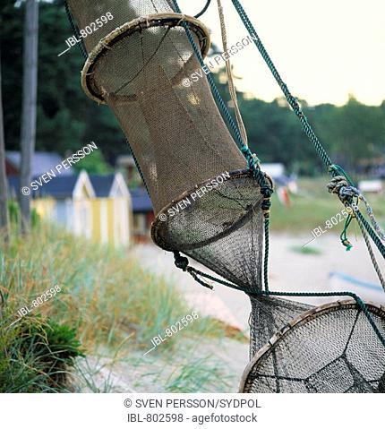 Eelfishingnets, Skåne, Sweden