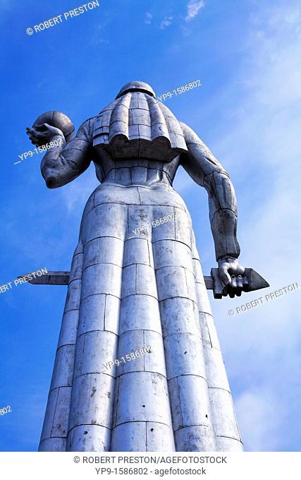 The aluminium statue of Kartlis Deda, Mother Georgia, Tbilisi, Georgia