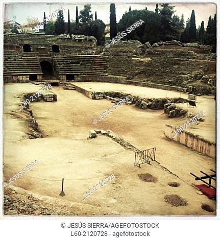 Anfiteatro romano - Ruinas de la ciudad romana de Emérita Augusta, Patrimonio de la Humanidad - Mérida - Provincia de Badajoz - Extremadura - España