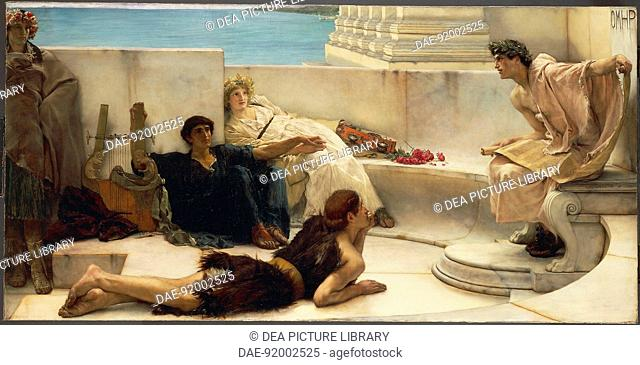 Sir Lawrence Alma-Tadema (1836-1912), A reading from Homer, 1885.  Philadelphia, Philadelphia Museum Of Art