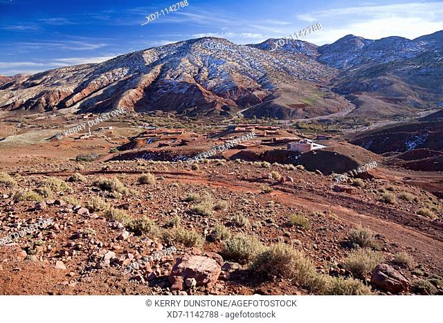 Morocco High Atlas Mountains Views of valley near Telouet
