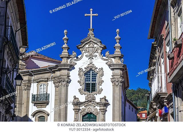 Church next to Casa da Capela das Malheiras, baroque building in Viana do Castelo city in Norte region of Portugal