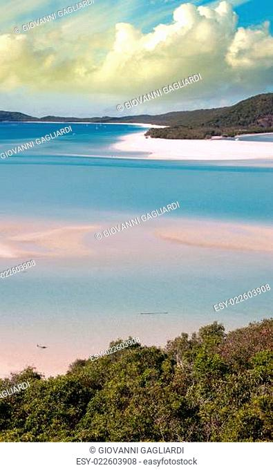 Wonderful colors of Whitsunday Islands on winter season, Australia
