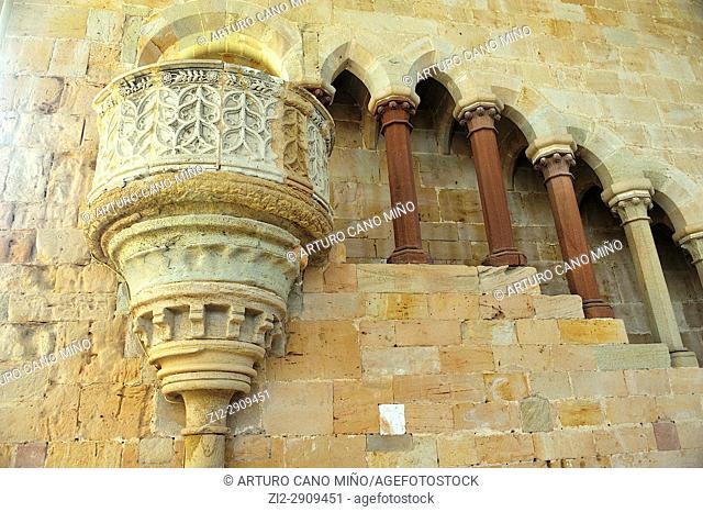 The Cistercian Monastery, XIIth-XVIth centuries. The Romanesque refectory, XIIth century. Santa Maria de Huerta, Soria province, Spain