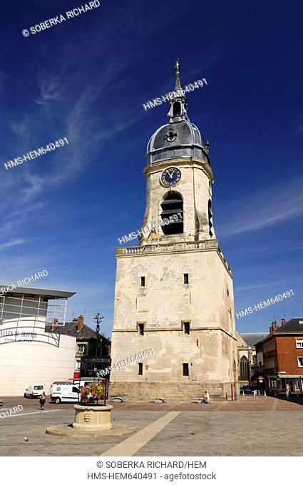 France, Somme, Amiens, Amiens Belfry tower listed as World Heritage by UNESCO