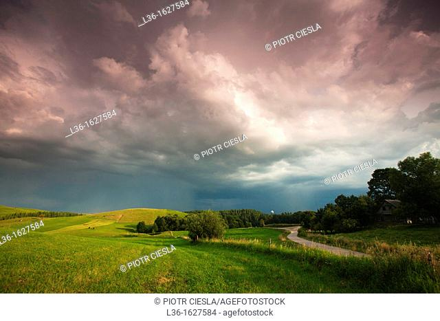 After a storm Suwalski region Poland