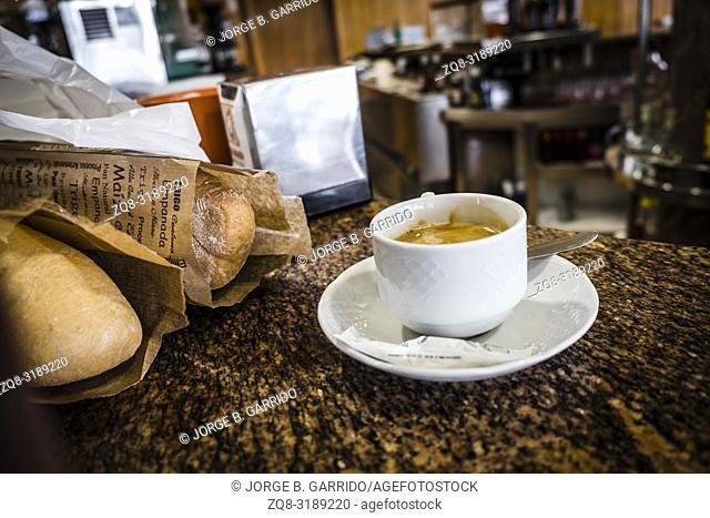 Coffee shop in Taramundi, Asturias, Spain