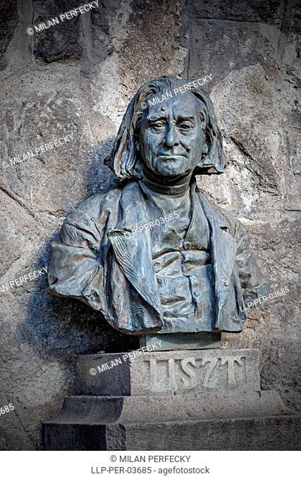 Franz Liszt, bust, composer, Bratislava, Slovakia