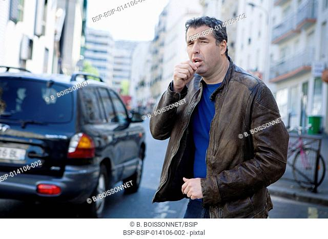 Man bothered by air pollution