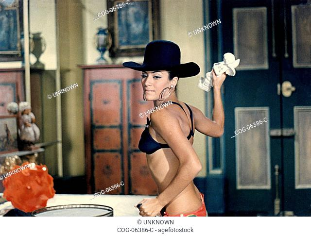 The Italian actress Silvia Monti in a scene from the film The Brain