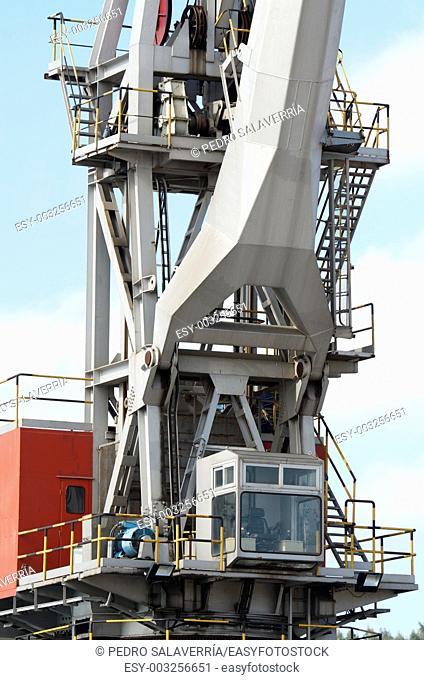 large port crane in the port of Aviles, Asturias, Spain