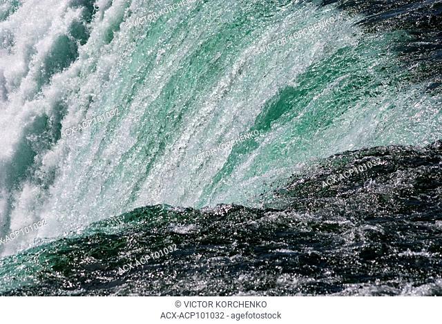 Niagara Falls. Close view of Horseshoe Falls from Canadian side