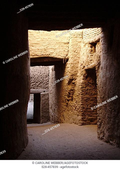 Hallway at Al-Qasr, Egypt