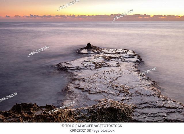 Rocks, s Estalella , Llucmajor, Mallorca, Balearic Islands, Spain europe