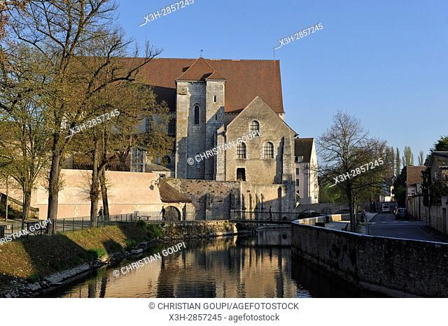 collegiate church of St-Andre on the Eure River bank, Chartres, Eure-et-Loir department, Centre-Val de Loire region, France, Europe