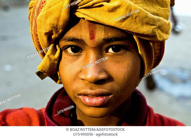 Portrait of a young Sadhu
