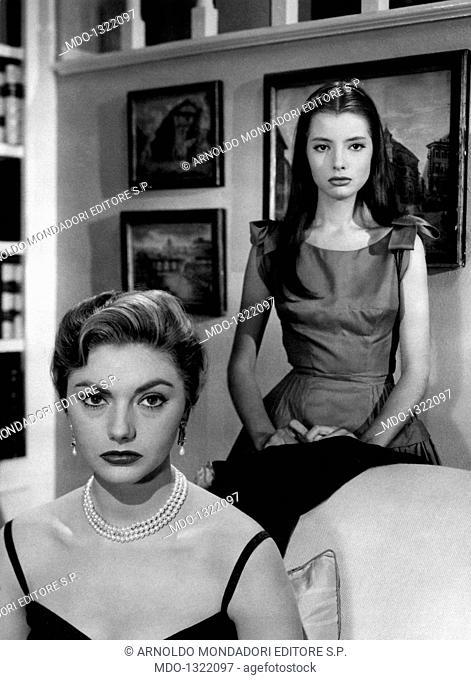 Sylva Koscina and Jacqueline Sassard in 'Guendalina'. Croatian-born Italian actress Sylva Koscina and French actress Jacqueline Sassard acting in the film...
