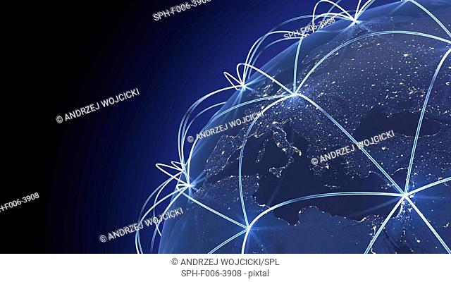 Global connectivity, computer artwork