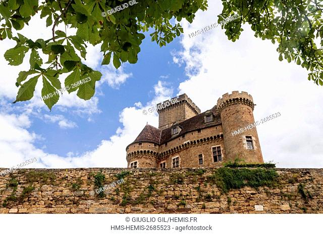France, Lot, Castelnau Castle in Dordogne Valley