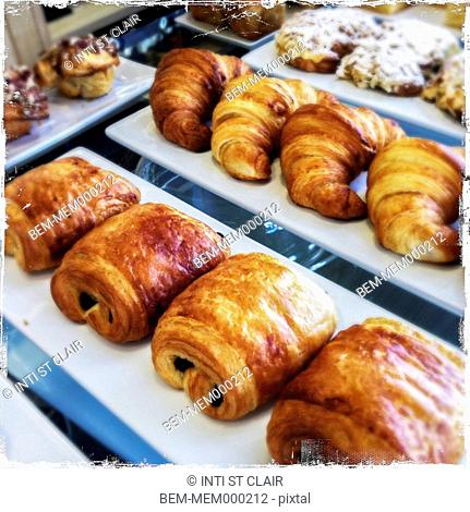 Close up of fresh pastries