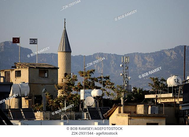 Roof view on the boarder line in Nicosia, Cyprus