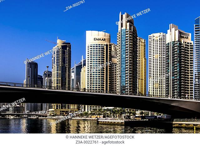 Emaar skyscrapers at Dubai Marina, Dubai, UAE